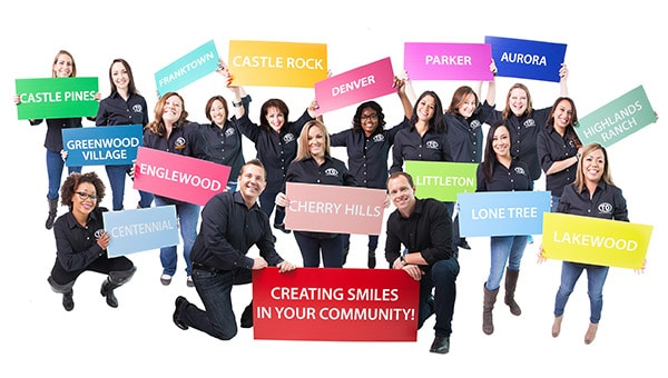 Total Staff with Black Header at Total Orthodontics in Lone Tree and Greenwood Village CO